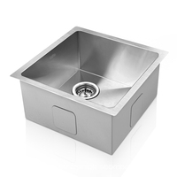 Stainless Steel Sink w/ Strainer Waste 510 x 450 mm
