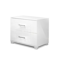 Bedside Table Unit with Drawers in High Gloss