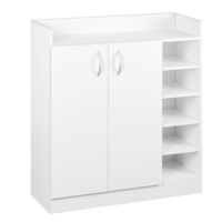 5 Shelf Shoe Cabinet Storage Cupboard in White