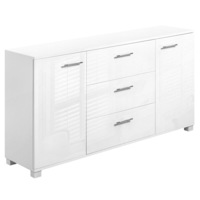 Sideboard Buffet Storage Cabinet in Gloss White