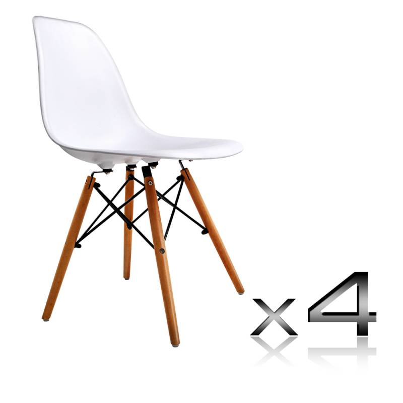 4x White Replica Eames Eiffel DSW Dining Chairs Buy Furniture