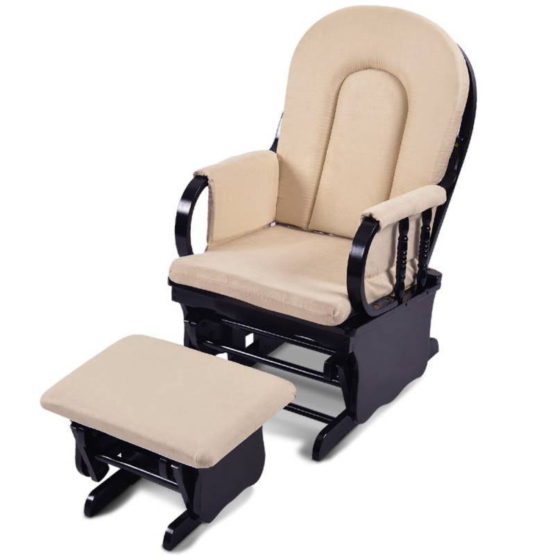 Breastfeeding Rocking Glider Chair W Ottoman Black Buy
