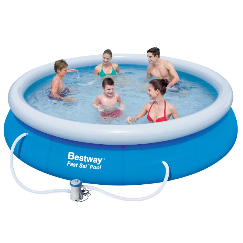 Bestway above ground swimming pool w pump 5377l buy for Bestway swimming pools