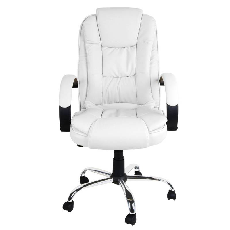 Executive PU Leather Modern Office Chair In White Buy White Office Chairs