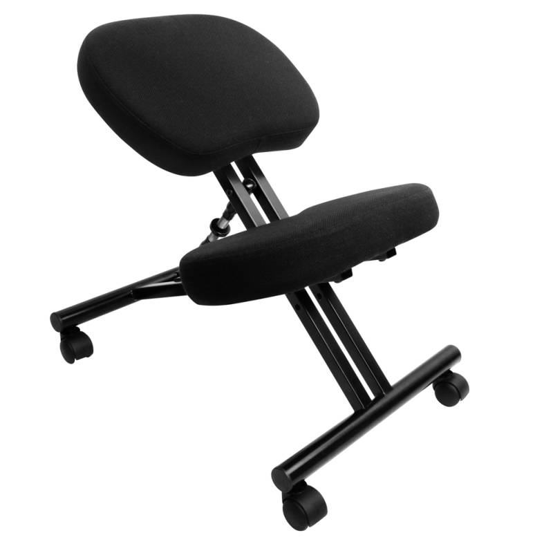 Adjustable Kneeling Chair Office Stool (Black)