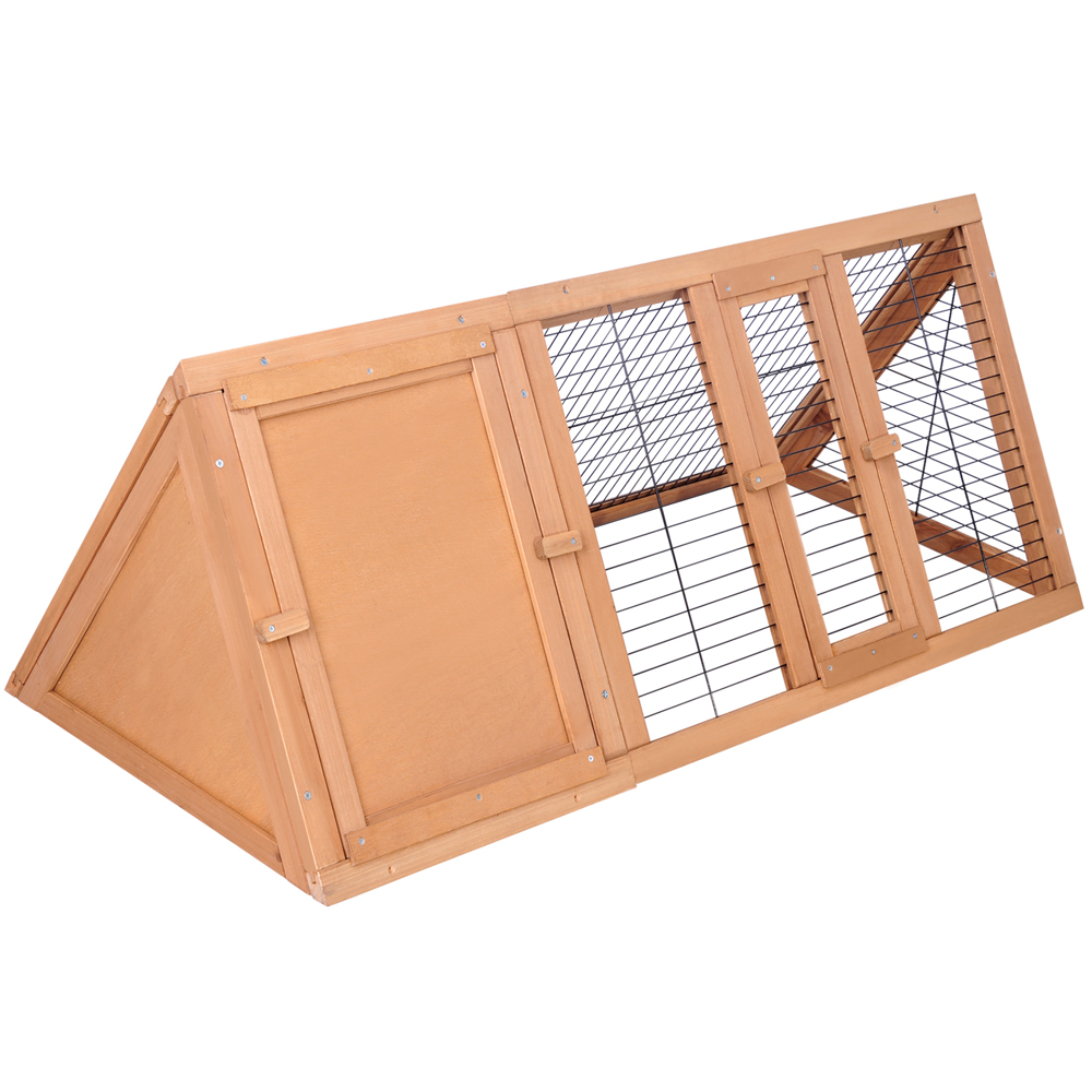 Triangle Rabbit Guinea Pig Fir Wood Cage Hutch Buy 30