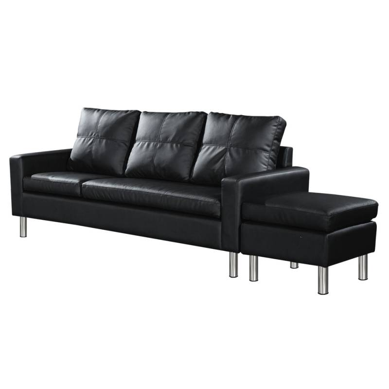 3 seater sofa with chaise lounge or ottoman black buy 30 for 1 seater chaise lounge