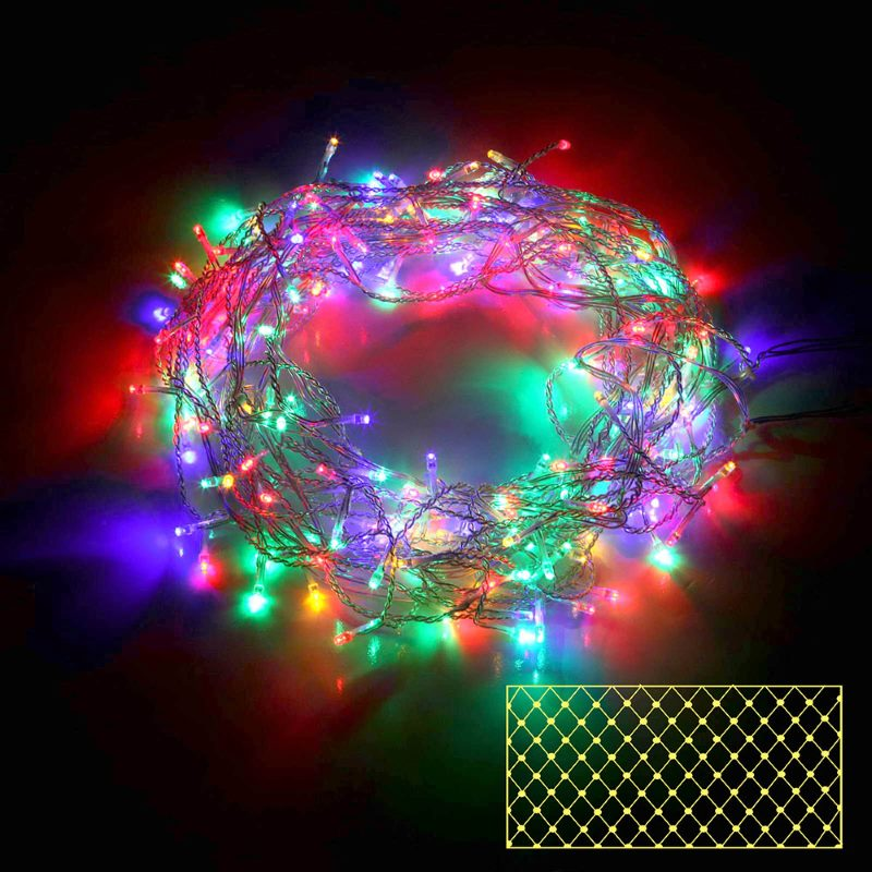 400 bright led christmas lights net in multicolour buy more. Black Bedroom Furniture Sets. Home Design Ideas