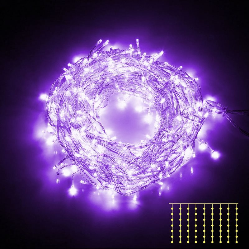 Bright curtain led christmas lights in purple buy
