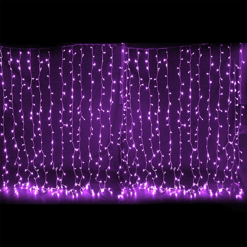 600 bright curtain led christmas lights in purple buy. Black Bedroom Furniture Sets. Home Design Ideas