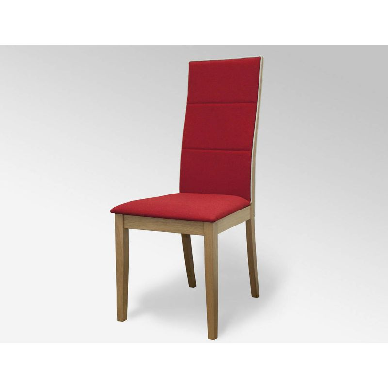 Modern dining chair in red and light oak buy dining chairs for Modern dining chairs australia