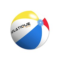 Inflatique Inflatable Beach Ball 35cm Stripe Colour