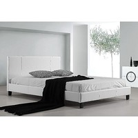 Palermo Double Size PU Leather Bed Frame in White