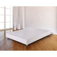 King Size Fabric Covered Bed Base Ensemble in White