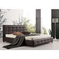 Palermo Deluxe King Size PU Leather Bed Frame Brown
