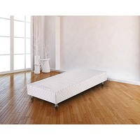 Single Size Fabric Ensemble Bed Base in White