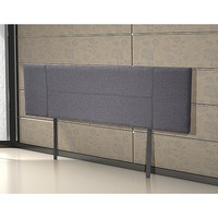 King Size Upholstered Fabric Headboard in Grey