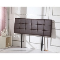 Deluxe Double Size PU Leather Bed Headboard Brown
