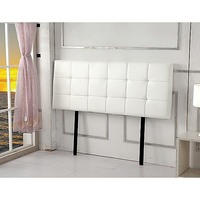 Double Size Tufted PU Leather Headboard in White