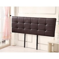 Deluxe King Size PU Leather Bed Head in Brown