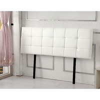 Deluxe King Size PU Leather Bed Head in White