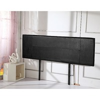 King Size PU Leather Headboard Bed Head in Black