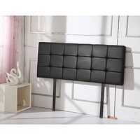 Deluxe Queen Size PU Leather Bed Head in Black