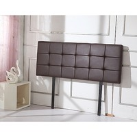 Deluxe Queen PU Leather Headboard Bedhead in Brown