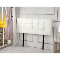 Queen Size PU Leather Deluxe Headboard in White
