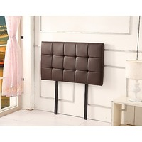 Deluxe Single PU Leather Headboard Bedhead in Brown
