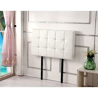 Deluxe Single Size PU Leather Headboard in White