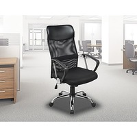 Ergonomic Mesh Back PU Leather Office Chair