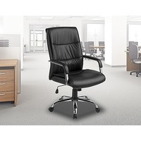 Classic Office Chair in Black PU Leather
