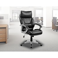Modern Office Chair in Black PU Leather