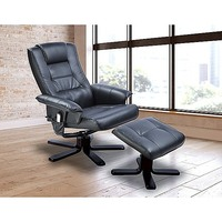 Massage Chair Recliner with Remote & Ottoman, Black