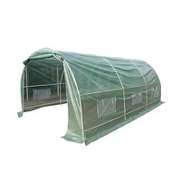 Steel Frame Garden Greenhouse w/ Plastic Cover 5x3m