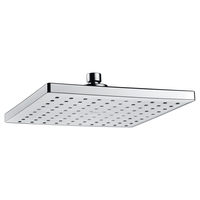 Square Rainfall Shower Head in Chrome 9in 230mm