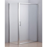 Semi Frameless Glass Shower Screen Door 1850x1200mm