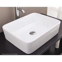 Above Counter Bathroom Vanity Square Ceramic Basin