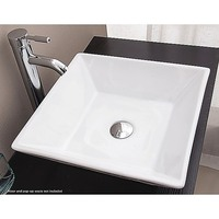 Square Ceramic Above Vanity Counter Deep Basin