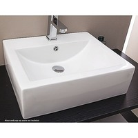 Above Counter Bathroom Rectangular Ceramic Basin
