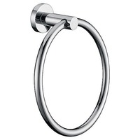 Chrome Plated Towel Bar Rail Ring Bathroom