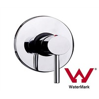 Chrome Bathroom Shower Wall Mixer with WaterMark