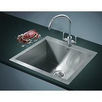 Stainless Steel Top Mount Kitchen Sink 530x505mm