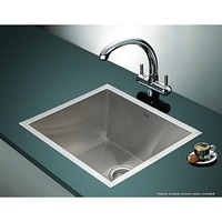 Stainless Steel Kitchen Sink w/ Strainer 510x450mm