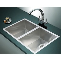 Kitchen Stainless Steel Sink Double Bowl 770x450mm