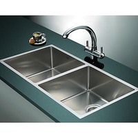 Double Bowl Stainless Steel Kitchen Sink 865x440mm