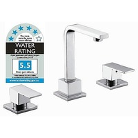 3 Piece Bathroom Basin Spout & Taps Set in Chrome