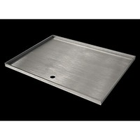 Tapered Stainless Steel BBQ Hot Plate 48x39cm