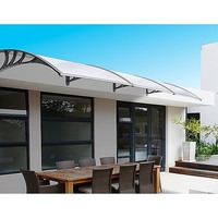 Outdoor Window Canopy Awning w/ Rain Gutter 1x3m